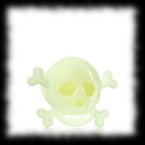 Glow In The Dark Skull and Crossbones Scentportable Ideas