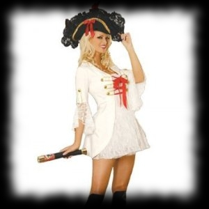 Lady's Pirate Costume for Halloween Parties