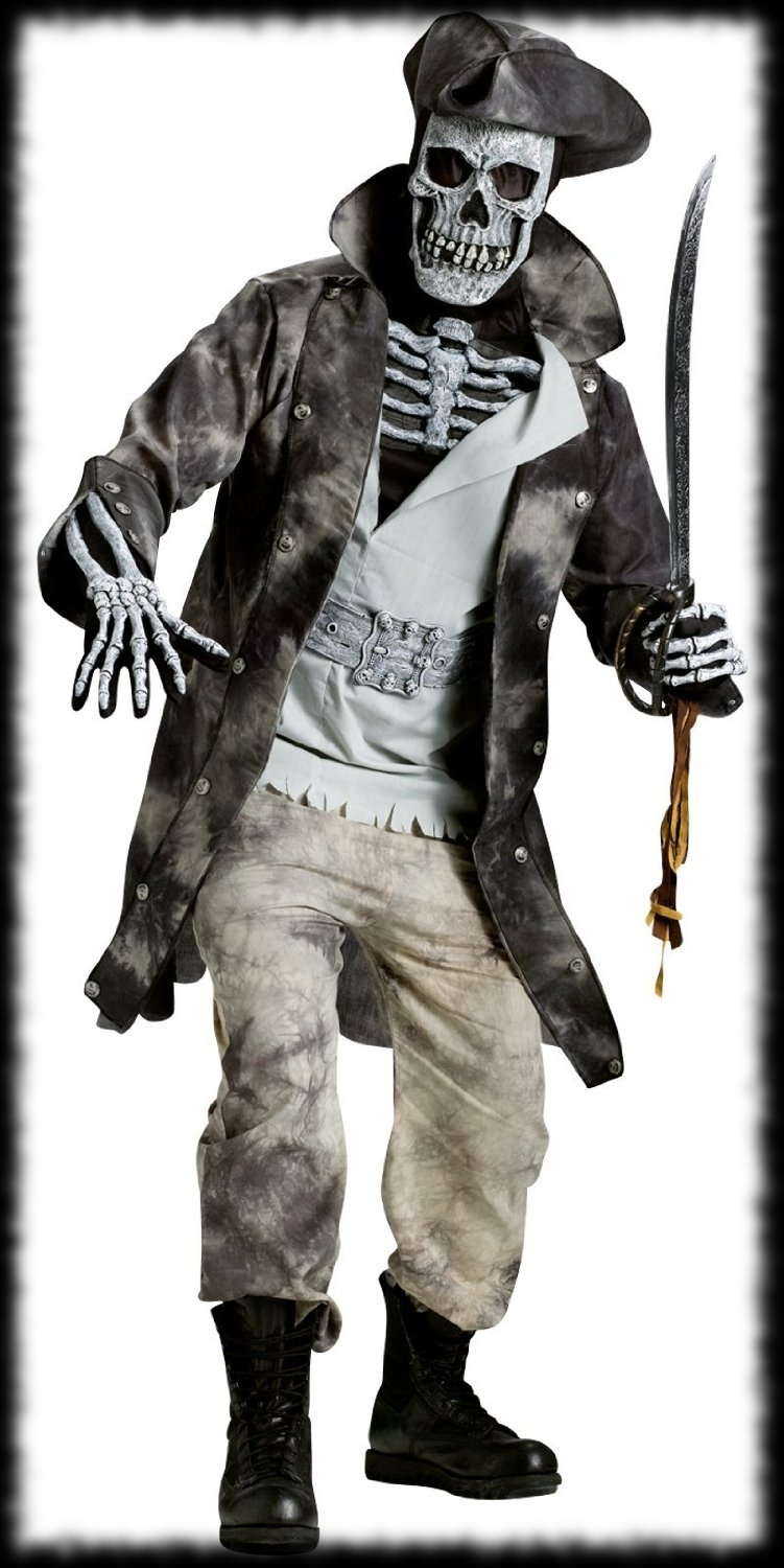 Pirate Skeleton Ghost Halloween Costume For Sale