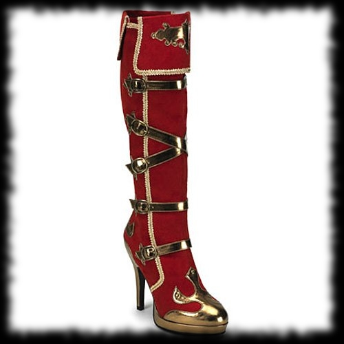 Deluxe Women's Red Pirate Boot Costume Accessory