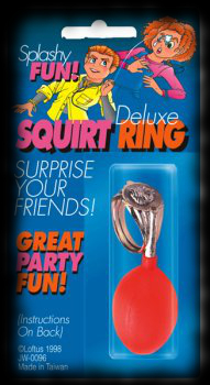 Halloween costume accessory practical joke squirting ring