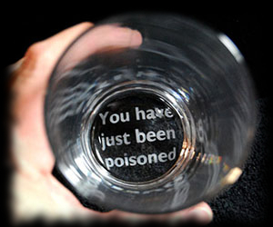 You have just been poisoned drink glass for sale Halloween trick