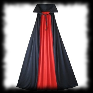 Deluxe Lined Long Cape Red and Black Halloween Costume Accessory