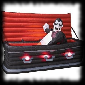 Dracula Air Blown Inflatable Coffin Riser Halloween Yard Display