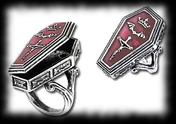 Vampire Casket Ring Halloween Costume Accessory