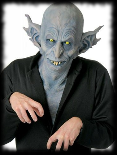 Deluxe Hollywood FX Vampire Nosferatu Mask with Chest Piece