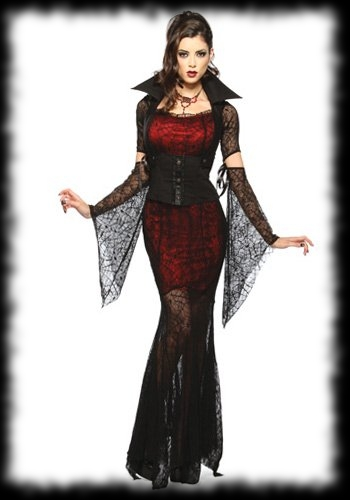 Women's Vampire Vampiress Halloween Costume Idea