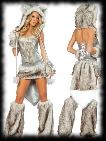 More werewolf party ideas for halloween page 2 ladys silver werewolf halloween costume idea solutioingenieria Choice Image