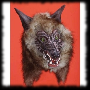 Wolf Halloween Mask with Real Fur For Sale