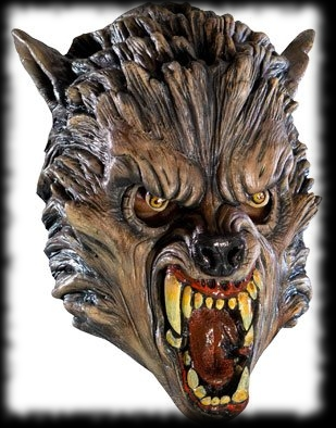 Angry Fang Werewolf Halloween Costume Mask Idea