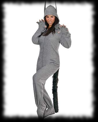Footed Werewolf Costume Gray for sale