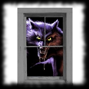 Werewolf Themed Halloween Party Decoration Idea Windo Cling