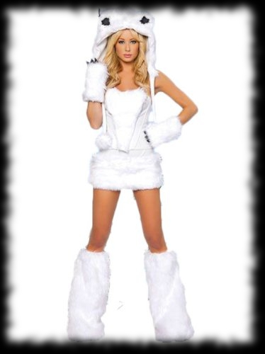 Lady's Werewolf Halloween Costume White Wolf For Sale