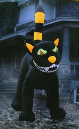 Giant 9 Foot Tall Inflatable Halloween Black Cat