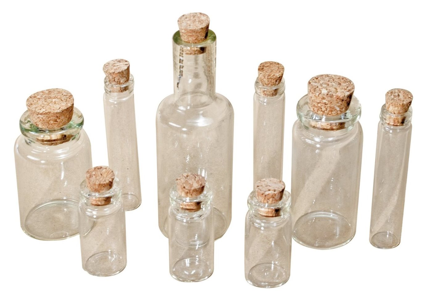 Witches Potion Bottles Set with Corks Halloween Party Idea