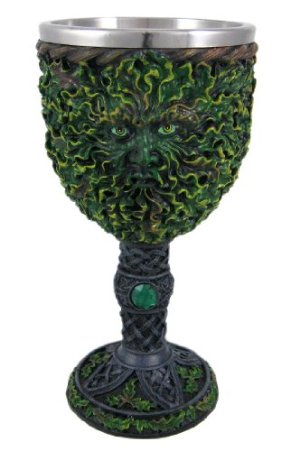 Ceremonial Green Man witches Halloween drink goblet idea