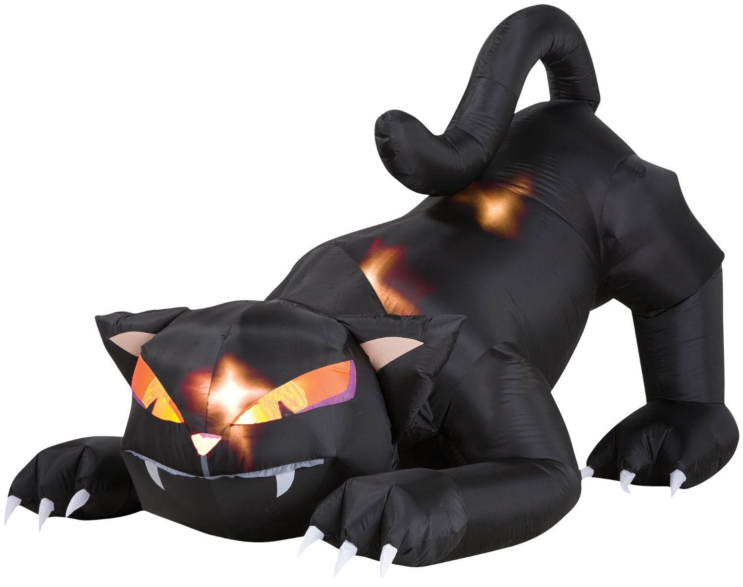 Crouched Inflatable Black Cat Halloween Display