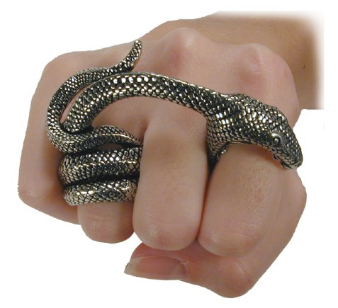 Witches Ring Double Finger Snake Ring