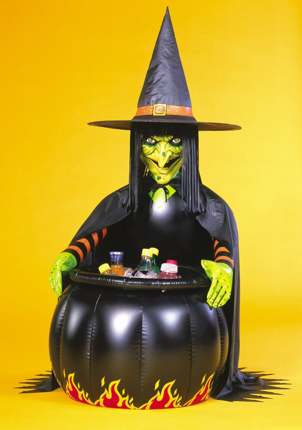 Deluxe Inflatable Witches Cooler Cauldron and Witch