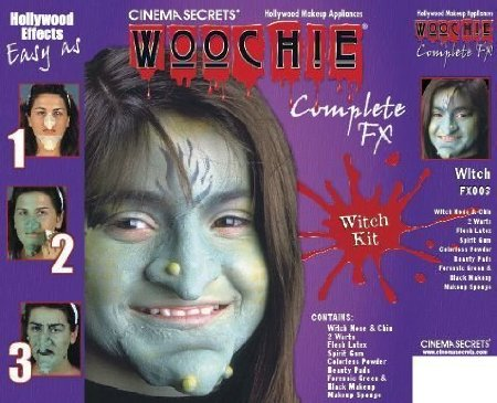 Deluxe Witches Makeup Kit With Nose and Chin