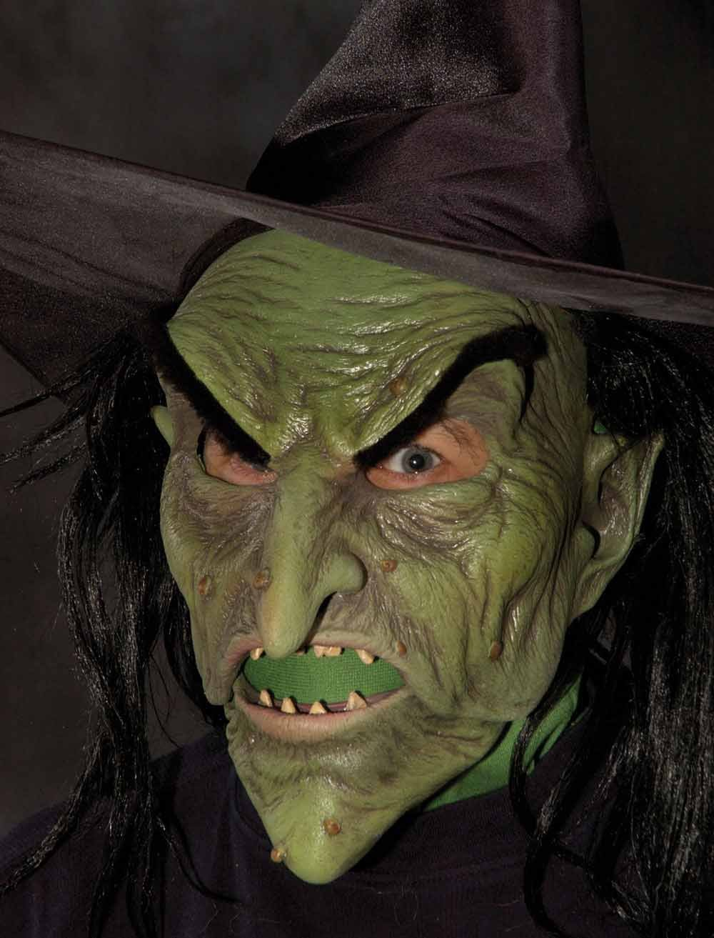 Classic Green Witch Mask Halloween Costume Mask