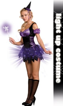 Deluxe Light Up Witches Halloween Costume Idea