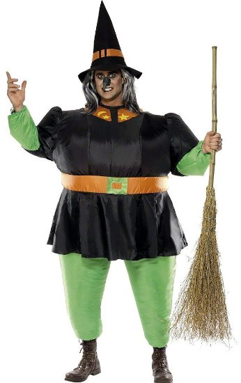 Funny Witch Halloween Costume Idea For Men or Women