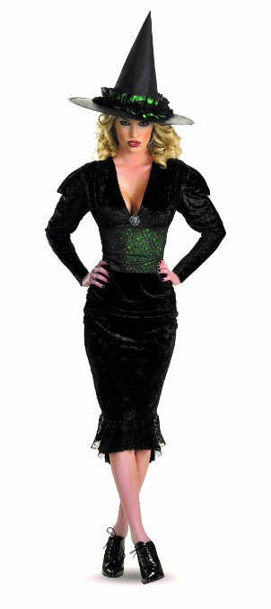Green and Black Witches Halloween Costume For Sale