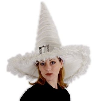 Good White Witch Hat Halloween Costume Accessory
