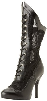 Women's Lace See Through Deluxe Witches Halloween Boots