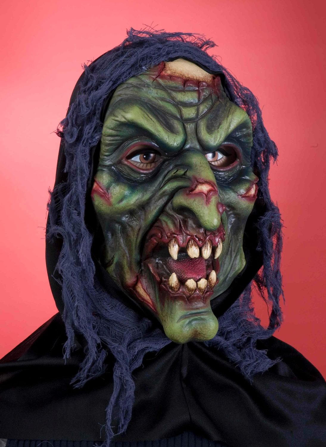 Hooded Witch Mask Halloween Costume For Sale
