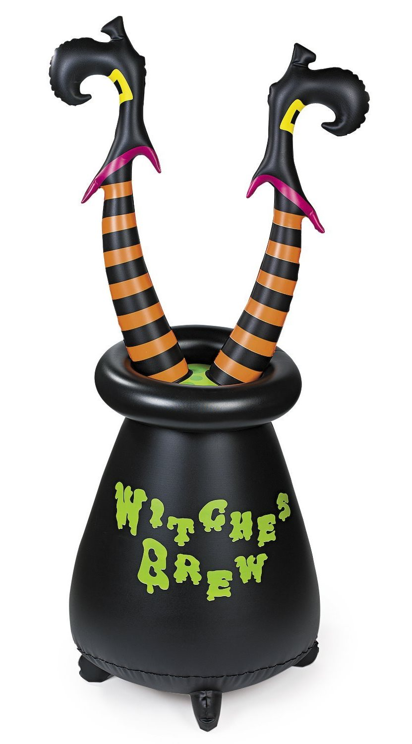 Inflatable Witches Cauldron with Witches Legs