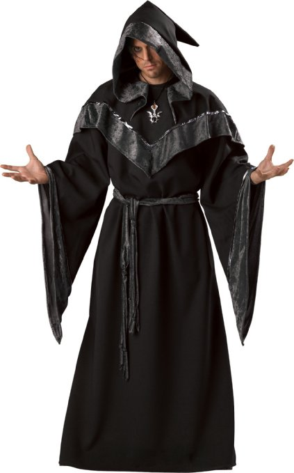 Men's Male Witch Halloween Costume Robe Idea