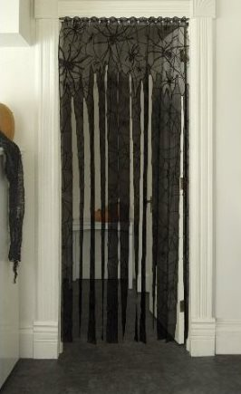Halloween Party Decoration Idea Black Lace Doorway Streamer