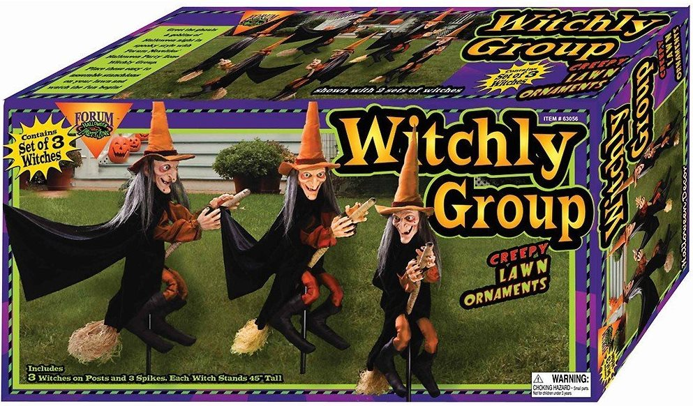 Witchly Group of Three Witches Halloween Display Idea