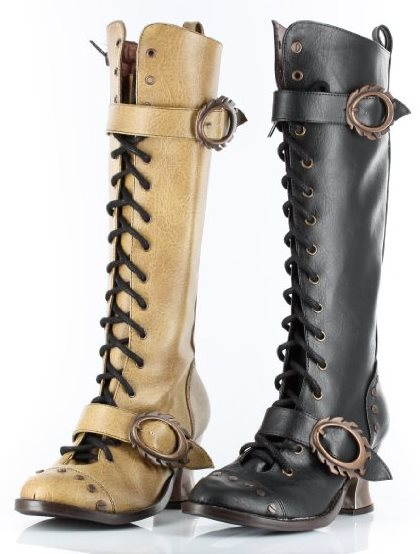 Women's Witch Hunting Boots Deluxe Halloween Costume