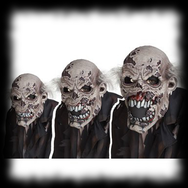 Animated Moving Zombie Halloween Costume Mask