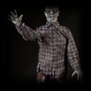 Deluxe Moving Animatronic Halloween Zombie Party Prop