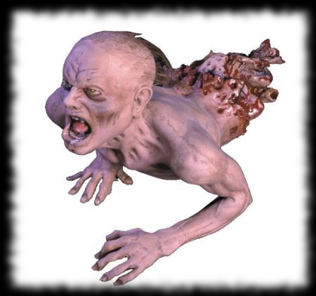 Creepy Crawling Zombie Prop for Halloween Decorations