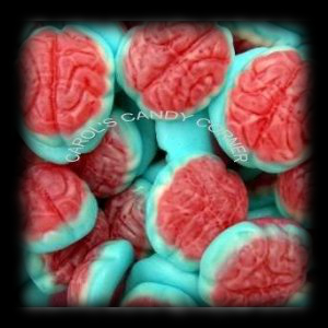 Gummy Brain Fruit Filled Halloween Candy For Sale