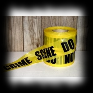 Halloween Party Decoration Idea Yellow Crime Scene Tape