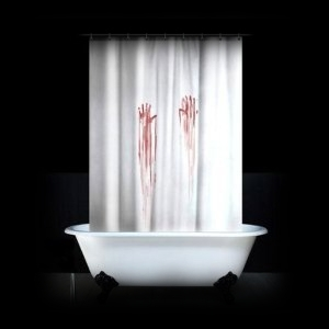 Zombie Halloween Party Decoration Ideas Bloody Shower Curtain