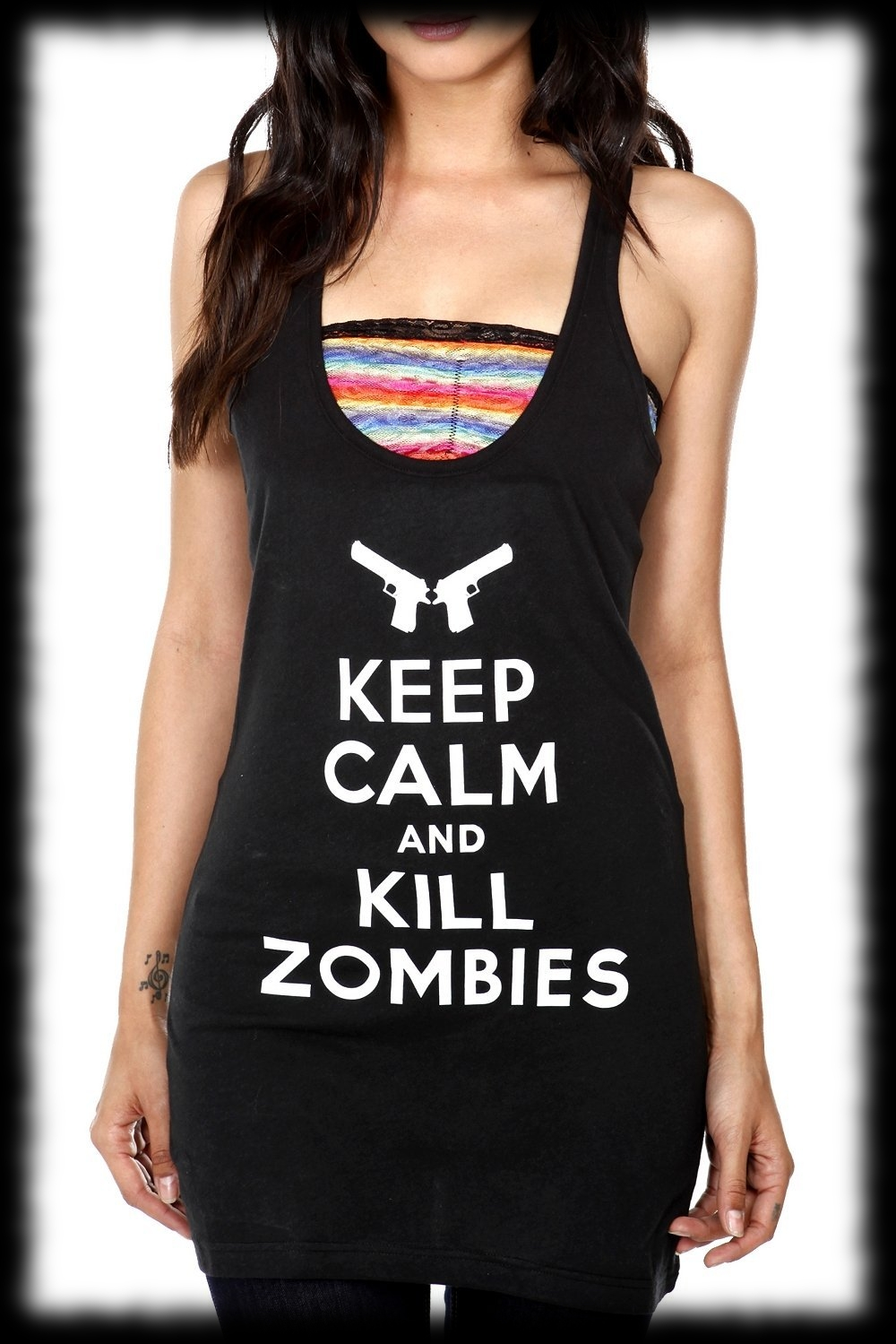 Girls Shirt For Sale Keep Calm and Kill Zombies