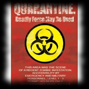 Zombie Quarantine Aluminum Halloween Party Sign Decoration