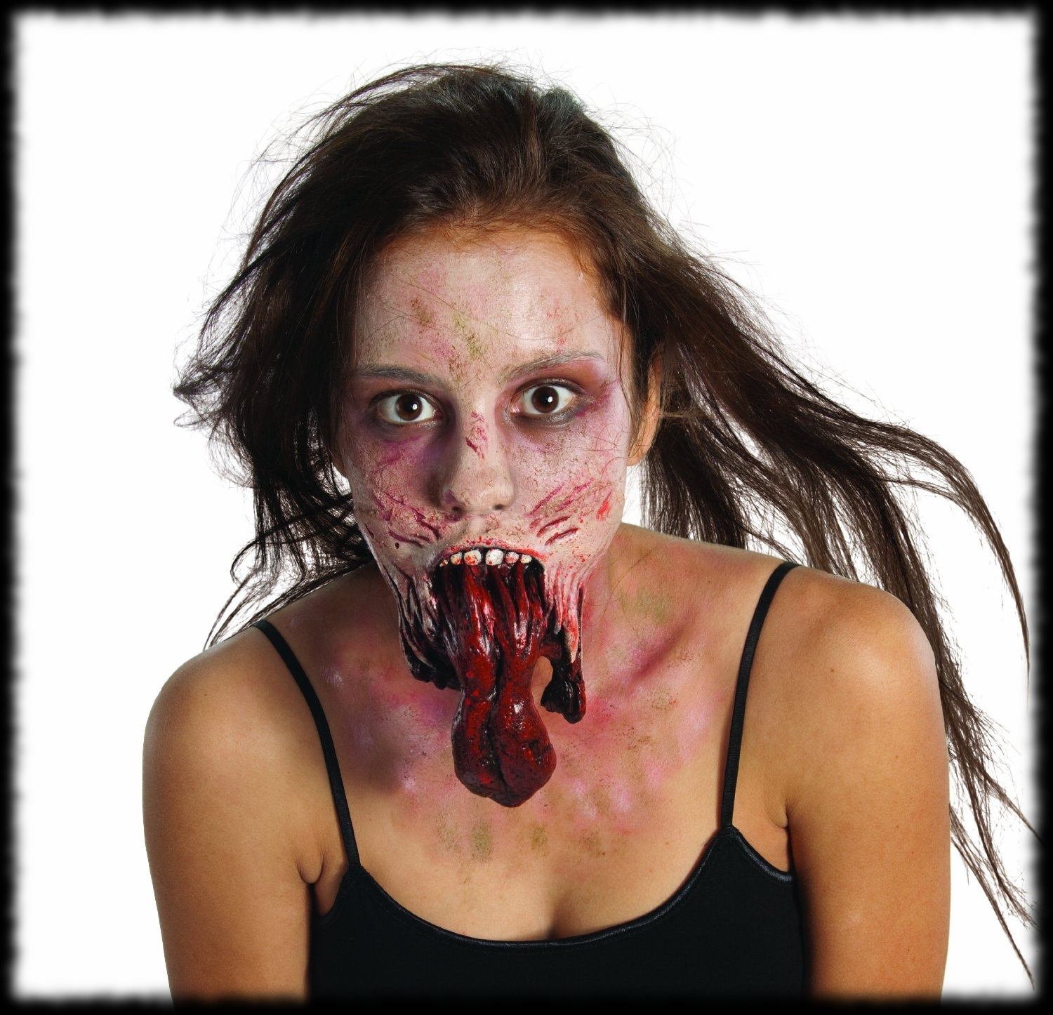 Split Jaw Zombie Halloween Costume Idea