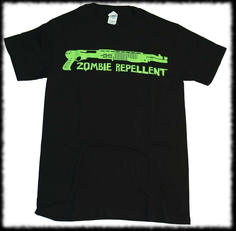 Zombie Repellent Shotgun Glow In Dark T-Shirt For Sale
